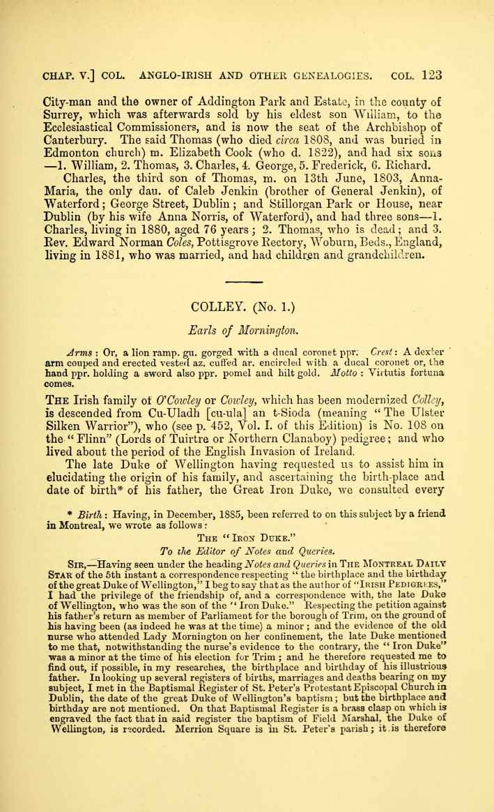 C:\Users\Virginia Rundle\Documents\Ancestry\Cranwill\Irish Pedigrees Colley Irish pedigrees; or, The origin and stem of the Irish nation published by O'Hart John 1892\150-thumb_709.jpg