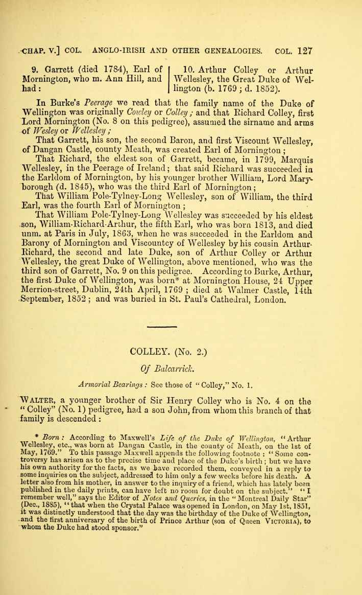 C:\Users\Virginia Rundle\Documents\Ancestry\Cranwill\Irish Pedigrees Colley Irish pedigrees; or, The origin and stem of the Irish nation published by O'Hart John 1892\154-thumb_709.jpg