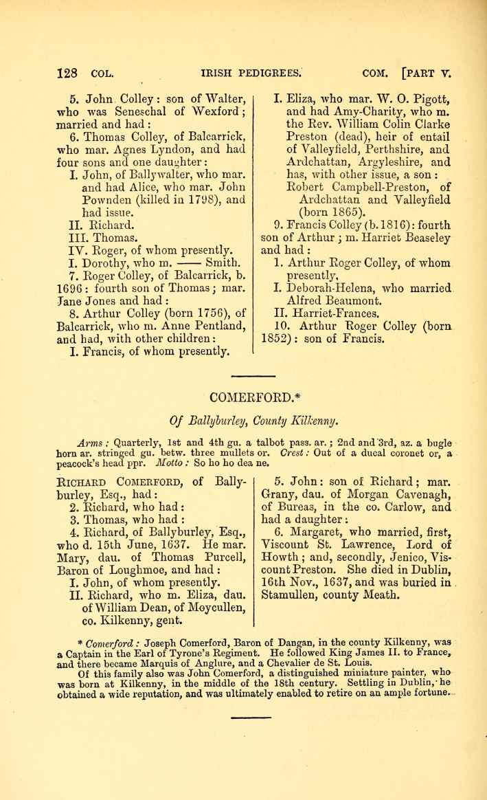 C:\Users\Virginia Rundle\Documents\Ancestry\Cranwill\Irish Pedigrees Colley Irish pedigrees; or, The origin and stem of the Irish nation published by O'Hart John 1892\155-thumb_709.jpg