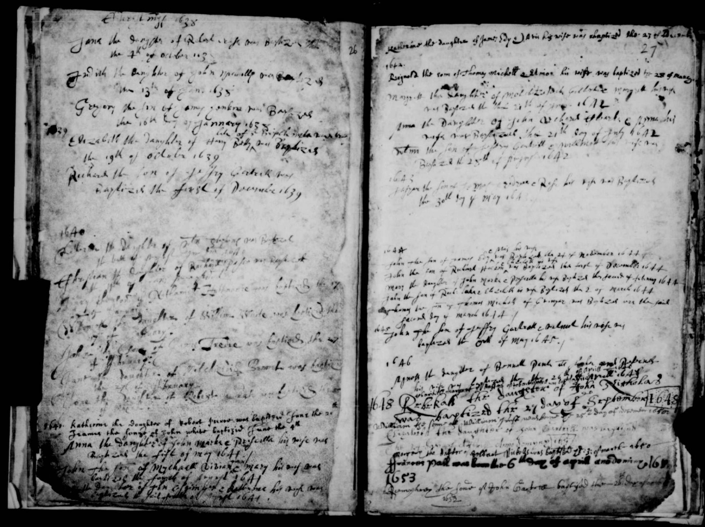 C:\Users\Virginia Rundle\Documents\Ancestry\Northey Moar Files\Tyack and Hockin Files\Baptism of John Hockin 1 Dec 1644.jpg