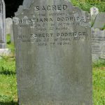 C:\Users\Virginia Rundle\Documents\Ancestry\Northey Moar Files\Doddridge\Robert Dodridge and Christian Galsworthy and their children\Grave of Dodridge, Robert.JPG