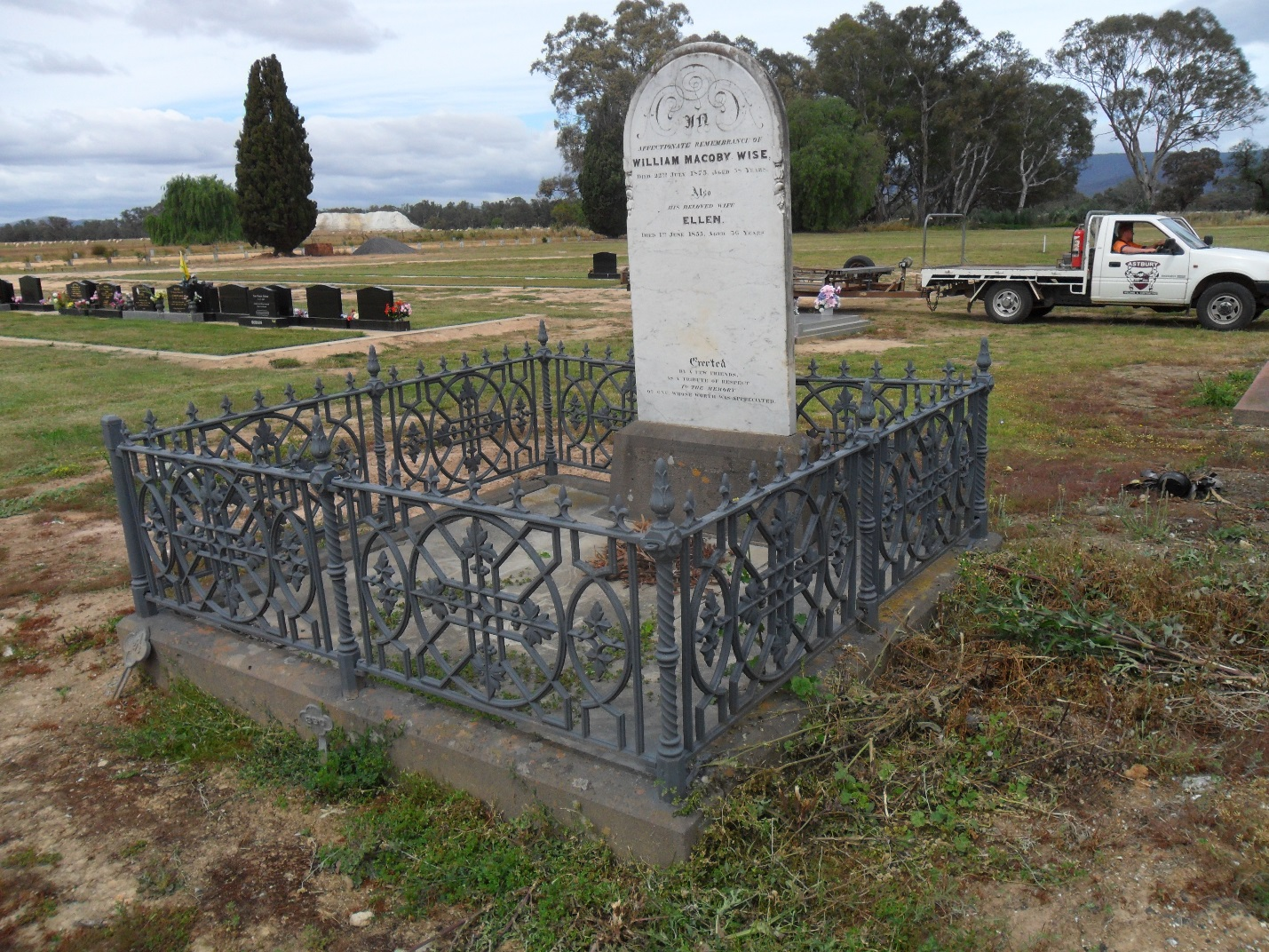 C:\Users\Virginia Rundle\Pictures\Wise Photos\William McOboy Wise grave after VIR restoration 002.jpg