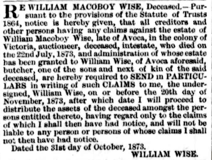 C:\Users\Virginia Rundle\Documents\Ancestry\Wise Files\William McOboy and Ellen Wise\William Wise Intestate Will.png