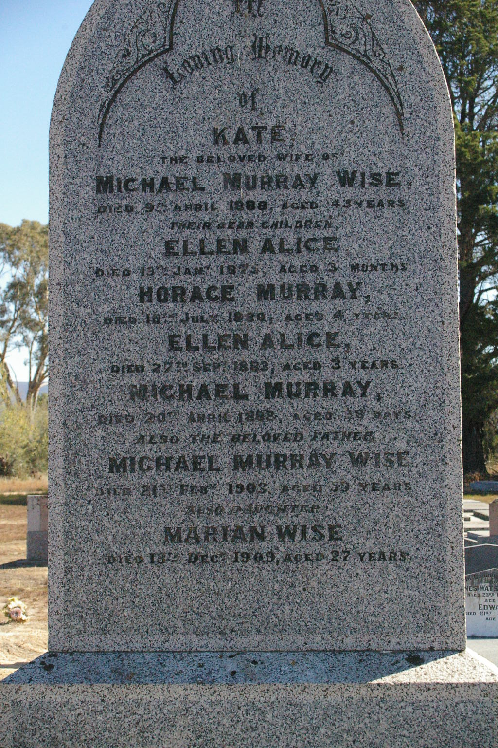 C:\Users\Virginia Rundle\Pictures\Family Tree\WISE Kate Ellen Alice Horace Murray Ellen Alice Michael Murray Michael Murray Marian.jpg