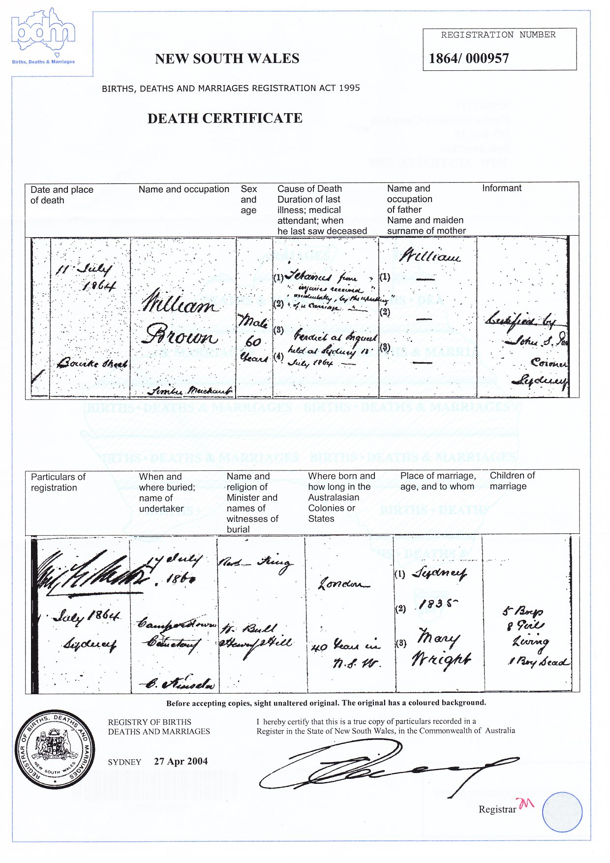 C:\Users\Virginia Rundle\Documents\Ancestry\Stewart Brown\William Brown Documents\Brown, William - Death Certificate 1864.jpg