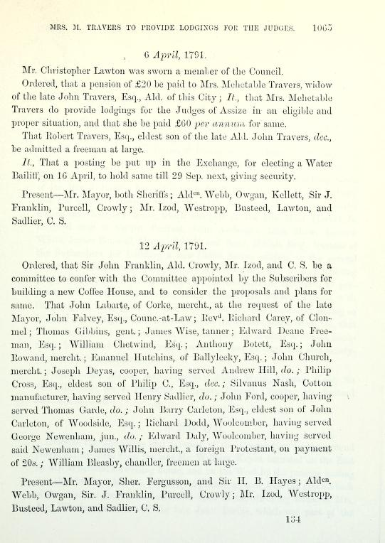 C:\Users\Virginia Rundle\Documents\Ancestry\Wise Files\Tanners of Cork and Directories\James Wise tanner, 12 April 1791 be admitted free.jpg