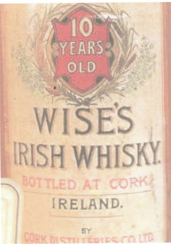 Label of Wise's Irish Whisky